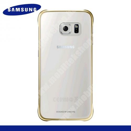 SAMSUNG EF-QG920BFEGWW műanyag védő tok / hátlap - ÁTLÁTSZÓ / ARANY - SAMSUNG SM-G920 Galaxy S6 - GYÁRI