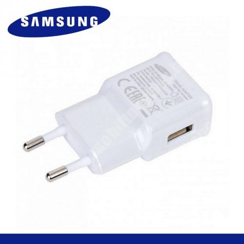 SAMSUNG EP-TA50EWE hálózati töltő USB aljzat - 5V / 1550mA, kábel NÉLKÜL! - FEHÉR - GYÁRI - Csomagolás nélküli