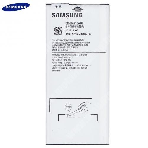 Samsung Galaxy A7 (2016) (SM-A710F) akkumulátor - 3300mAh Li-ION - EB-BA710ABE/GH43-04566A - GYÁRI