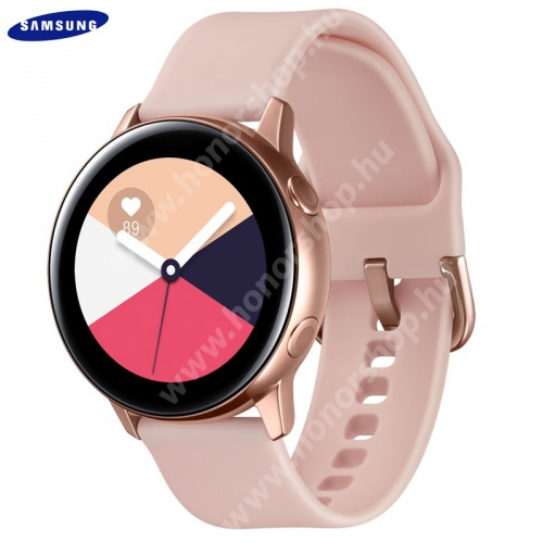 HUAWEI Honor 9 SAMSUNG Galaxy Watch Active okosóra - szilikon szíj - ROSE GOLD - SM-R500NZDA - GYÁRI