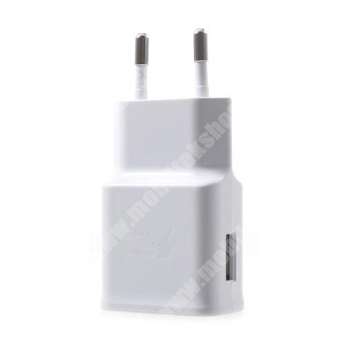 Oukitel U7 Samsung hálózati töltő - 1 x USB aljzat, gyors töltés támogatás, 9V/1.67A; 5V/2A - EP-TA200 - FEHÉR - GYÁRI