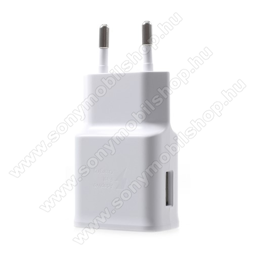 SONY Xperia XA2Samsung hálózati töltő - 1 x USB aljzat, gyors töltés támogatás, 9V/1.67A; 5V/2A - EP-TA200 - FEHÉR - GYÁRI