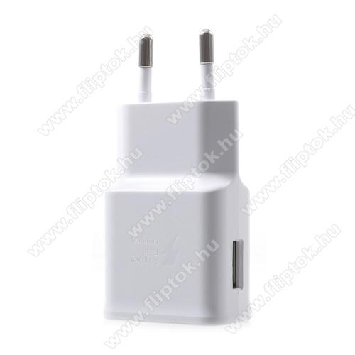 SAMSUNG SM-A750F Galaxy A7 (2018)Samsung hálózati töltő - 1 x USB aljzat, gyors töltés támogatás, 9V/1.67A; 5V/2A - EP-TA200 - FEHÉR - GYÁRI