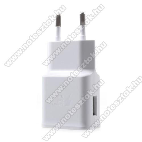 OPPO F7 YouthSamsung hálózati töltő - 1 x USB aljzat, gyors töltés támogatás, 9V/1.67A; 5V/2A - EP-TA200 - FEHÉR - GYÁRI