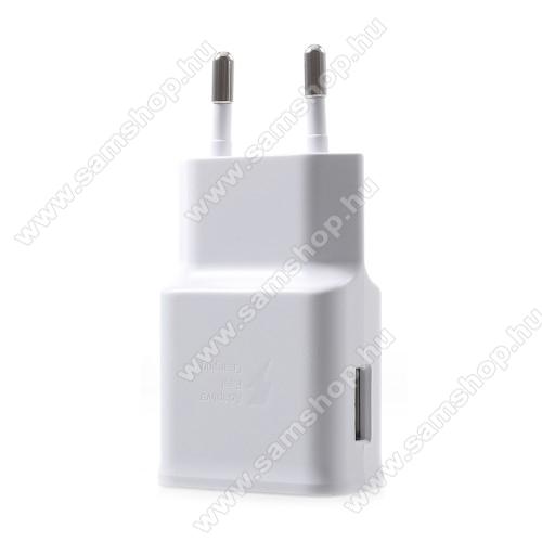 SAMSUNG SM-T830 Galaxy Tab S4 10.5 (Wi-Fi)Samsung hálózati töltő - 1 x USB aljzat, gyors töltés támogatás, 9V/1.67A; 5V/2A - EP-TA200 - FEHÉR - GYÁRI