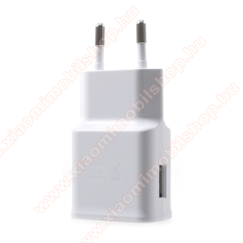 Xiaomi Mi A2Samsung hálózati töltő - 1 x USB aljzat, gyors töltés támogatás, 9V/1.67A; 5V/2A - EP-TA200 - FEHÉR - GYÁRI