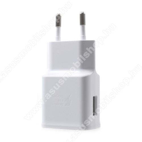 ASUS Zenfone Max Pro (M2) (ZB631KL)Samsung hálózati töltő - 1 x USB aljzat, gyors töltés támogatás, 9V/1.67A; 5V/2A - EP-TA200 - FEHÉR - GYÁRI