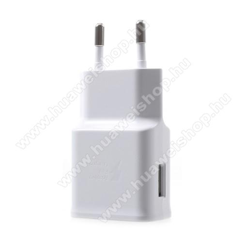 HUAWEI Y MaxSamsung hálózati töltő - 1 x USB aljzat, gyors töltés támogatás, 9V/1.67A; 5V/2A - EP-TA200 - FEHÉR - GYÁRI