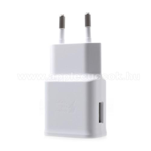 APPLE iPhone 8 PlusSamsung hálózati töltő - 1 x USB aljzat, gyors töltés támogatás, 9V/1.67A; 5V/2A - EP-TA200 - FEHÉR - GYÁRI