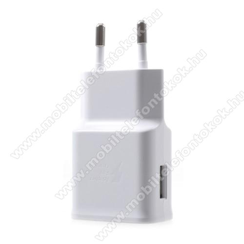 LG G5 (H850)Samsung hálózati töltő - 1 x USB aljzat, gyors töltés támogatás, 9V/1.67A; 5V/2A - EP-TA200 - FEHÉR - GYÁRI