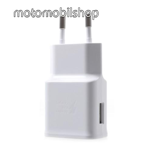 MOTOROLA Moto Z4 Samsung hálózati töltő - 1 x USB aljzat, gyors töltés támogatás, 9V/1.67A; 5V/2A - EP-TA200 - FEHÉR - GYÁRI