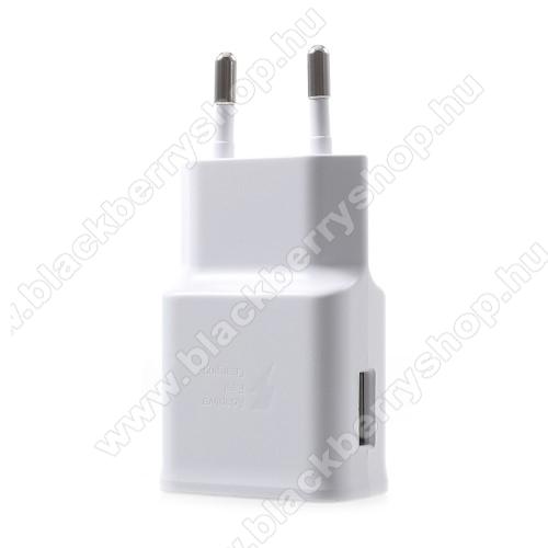 BLACKBERRY AuroraSamsung hálózati töltő - 1 x USB aljzat, gyors töltés támogatás, 9V/1.67A; 5V/2A - EP-TA200 - FEHÉR - GYÁRI