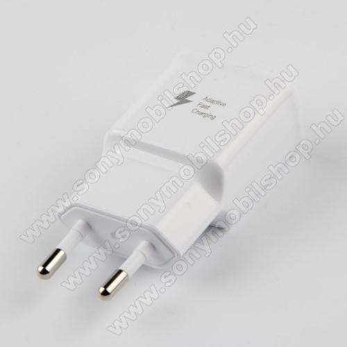 SONY Xperia M4 Aqua DualSAMSUNG hálózati töltő - 1x USB aljzat, gyorstöltés támogatás, 9V/1.67A; 5V/2A - FEHÉR