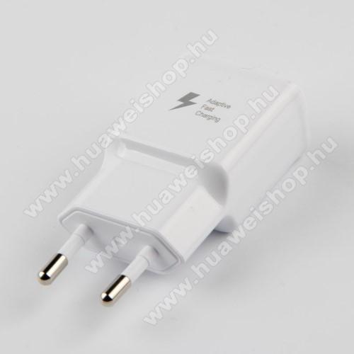 HUAWEI Honor Play 3SAMSUNG hálózati töltő - 1x USB aljzat, gyorstöltés támogatás, 9V/1.67A; 5V/2A - FEHÉR