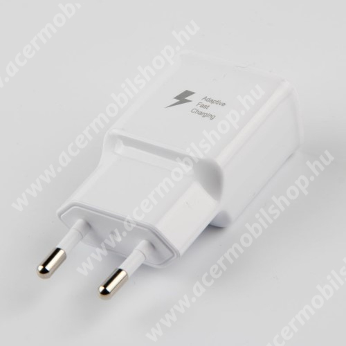 ACER Liquid Jade S SAMSUNG hálózati töltő - 1x USB aljzat, gyorstöltés támogatás, 9V/1.67A; 5V/2A - FEHÉR