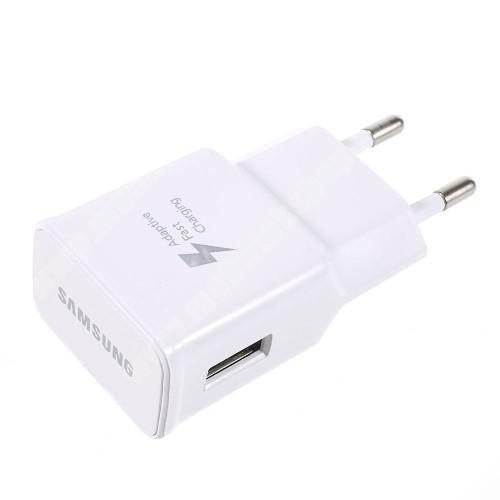 ALCATEL A30 SAMSUNG hálózati töltő - EP-TA20EWE - USB aljzattal, Fast charge, Quick Charge 2.0 9V/1.67A, 5V/2A, Gyorstöltő - FEHÉR - EP-TA20EWE - GYÁRI