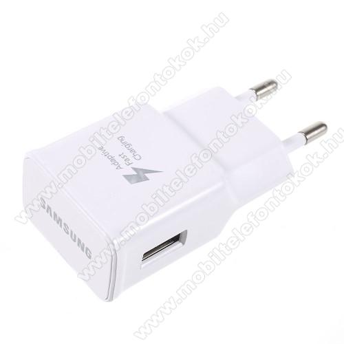 HUAWEI Honor 8X MaxSAMSUNG hálózati töltő - EP-TA20EWE - USB aljzattal, Fast charge, Quick Charge 2.0 9V/1.67A, 5V/2A, Gyorstöltő - FEHÉR - EP-TA20EWE - GYÁRI