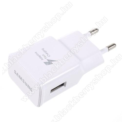 BLACKBERRY DTEK50SAMSUNG hálózati töltő - EP-TA20EWE - USB aljzattal, Fast charge, Quick Charge 2.0 9V/1.67A, 5V/2A, Gyorstöltő - FEHÉR - EP-TA20EWE - GYÁRI