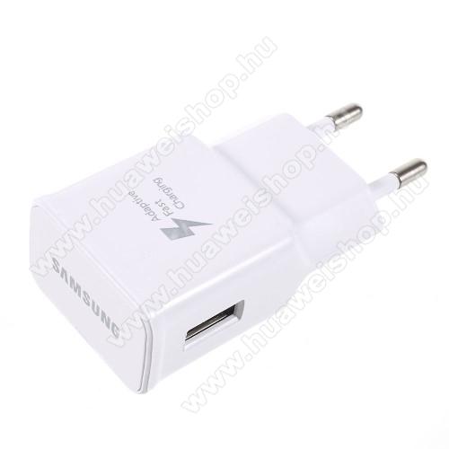 HUAWEI Honor Bee (Y5c)SAMSUNG hálózati töltő - USB aljzattal, Quick Charge 2.0 9V/1.67A, 5V/2A - FEHÉR - EP-TA20EWE - GYÁRI