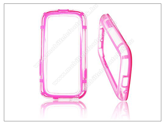 Samsung i9300 Galaxy S III védőkeret - Bumper - pink/átlátszó