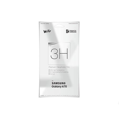 SAMSUNG képernyővédő fólia - CRYSTAL - 1db, törlőkendővel, A képernyő sík részét védi! - SAMSUNG SM-A705F Galaxy A70 - GP-TFA705WSATW - GYÁRI