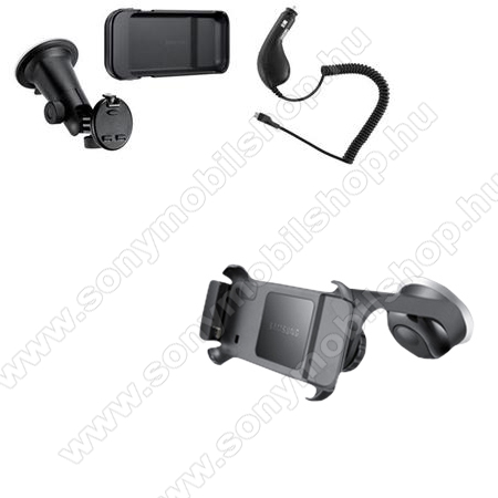 SAMSUNG kezdőcsomag (tapadókorongos tartó konzollal + szivartöltő) - GYÁRI - SAMSUNG GT-I9000 Galaxy S