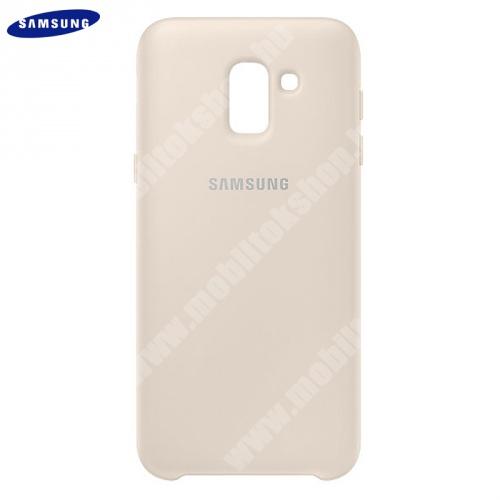 SAMSUNG műanyag védőtok (dupla rétegű, gumírozott) ARANY - EF-PJ600CFEGWW - Samsung Galaxy J6 (2018) J600F - GYÁRI