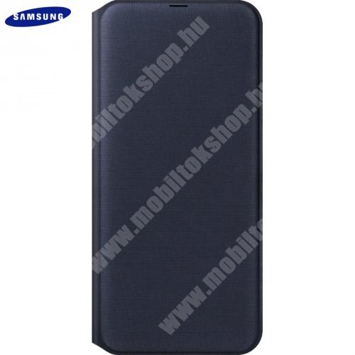 SAMSUNG notesz tok (aktív flip, oldalra nyíló, bankkártya tartó) - FEKETE - EF-WA505PBEG - SAMSUNG SM-A307F Galaxy A30s / SAMSUNG SM-A505F Galaxy A50 / SAMSUNG Galaxy A50s - GYÁRI