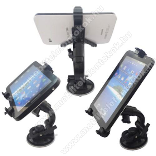 SAMSUNG P1000 Galaxy Tab gépkocsi / autó tartó - BRANDO - (forgatható tapadókorongos szélvédőtartóval)