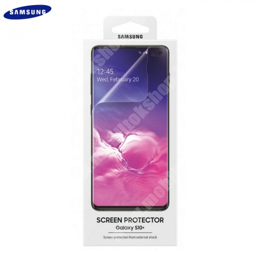 SAMSUNG TPU képernyővédő fólia - Clear - A TELJES KIJELZŐT VÉDI!, 2 db - SAMSUNG SM-G975F Galaxy S10+ - ET-FG975CTEGWW - GYÁRI