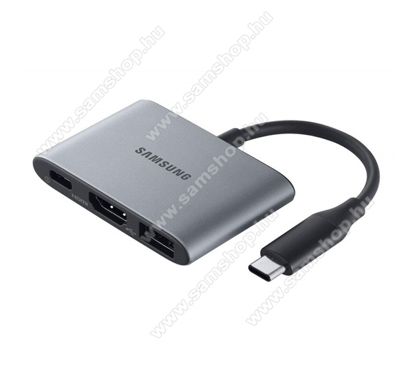 SAMSUNG Type-C USB adapter - Type-C, adatátvitel és töltést is támogat, HDMI, USB aljzat, MULTIPORT - SZÜRKE - EE-P3200BJEGWW - GYÁRI