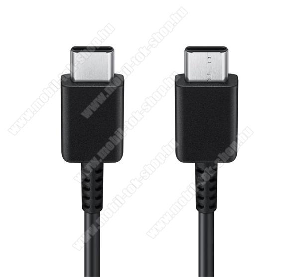 SAMSUNG USB Type-C - USB Type-C adat- és töltőkábel 120cm-es vezetékkel, PD gyorstöltés támogatás - FEKETE - EP-DG977BBE - GYÁRI - Csomagolás nélküli