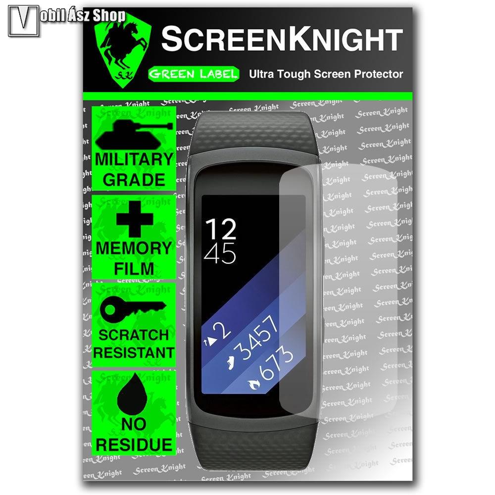 SCREENKNIGHT TPU képernyővédő fólia - Clear - 1db, törlőkendővel - SAMSUNG Gear Fit 2 SM-R360