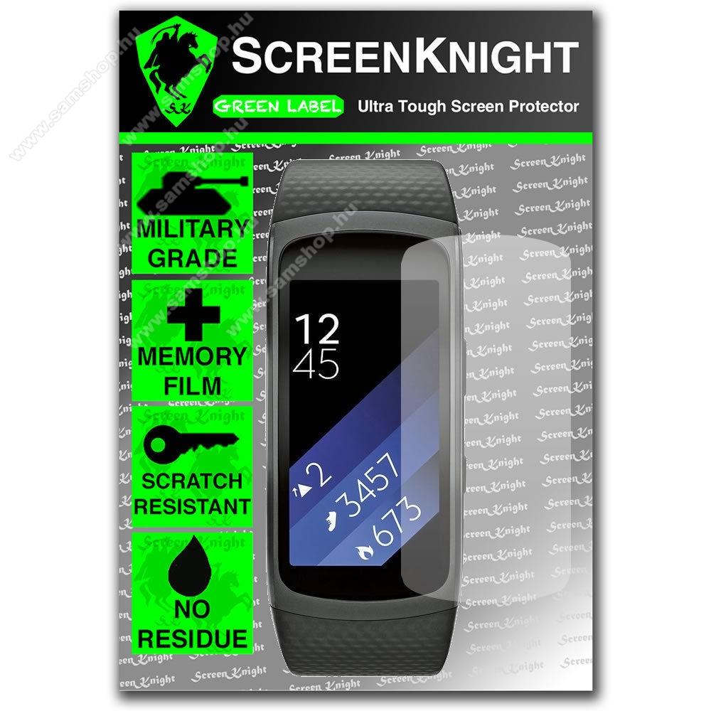 SAMSUNG Gear Fit 2 Pro (SM-R365)SCREENKNIGHT TPU okosóra képernyővédő fólia - Clear - 1db, törlőkendővel - SAMSUNG Gear Fit 2 SM-R360 / Samsung Gear Fit 2 Pro SM-R365