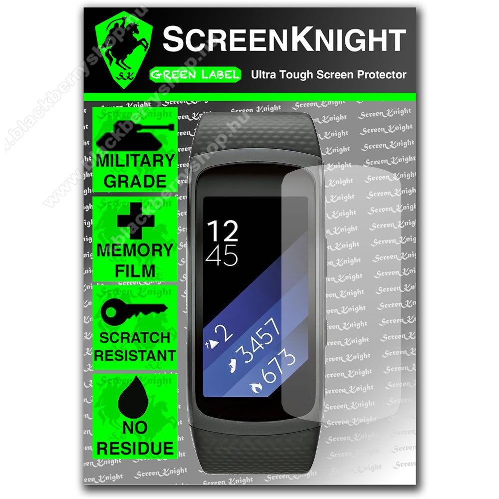 SCREENKNIGHT TPU okosóra képernyővédő fólia - Clear - 1db, törlőkendővel - SAMSUNG Gear Fit 2 SM-R360 / Samsung Gear Fit 2 Pro SM-R365