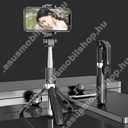 SELFIESHOW UNIVERZÁLIS teleszkópos selfie bot és tripod állvány - BLUETOOTH KIOLDÓVAL, 360 fokban forgatható, max 70cm hosszú nyél - FEKETE