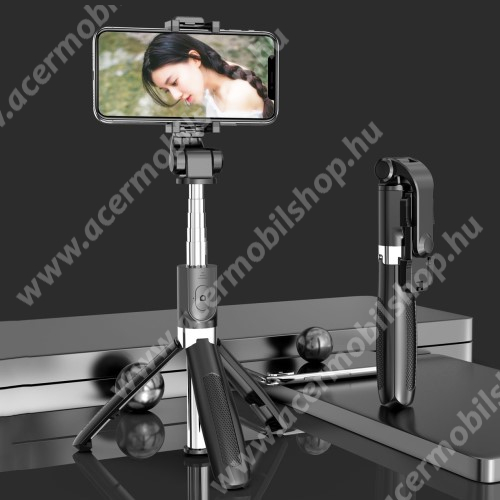 ACER Liquid X1 SELFIESHOW UNIVERZÁLIS teleszkópos selfie bot és tripod állvány - BLUETOOTH KIOLDÓVAL, 360 fokban forgatható, max 70cm hosszú nyél - FEKETE