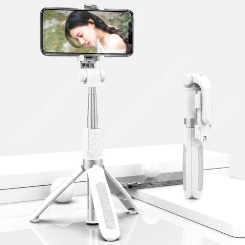 Elephone P9 Water SELFIESHOW UNIVERZÁLIS teleszkópos selfie bot és tripod állvány - BLUETOOTH KIOLDÓVAL, 360 fokban forgatható, max 70cm hosszú nyél - FEHÉR
