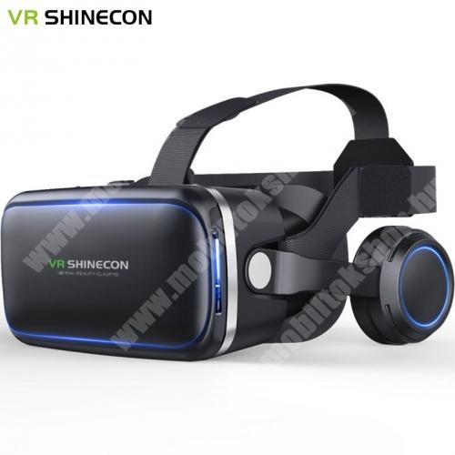 """Blackview R6 Lite SHINECON 6.gen. videoszemüveg - VR 3D, filmnézéshez ideális, 4-6"""" kijelzőhöz, fejhallgató - FEKETE"""