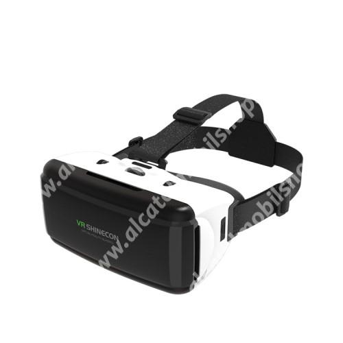 """SHINECON videoszemüveg - VR 3D, filmnézéshez ideális, 4-6"""" kijelzőhöz - FEKETE / FEHÉR"""