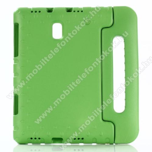 Shockproof EVA habszivacs védő tok / hátlap - ZÖLD - hordozható, asztali tartó funkciós, ERŐS VÉDELEM! - SAMSUNG SM-T590 Galaxy Tab A 10.5 Wi-Fi / SAMSUNG SM-T595 Galaxy Tab A 10.5 LTE