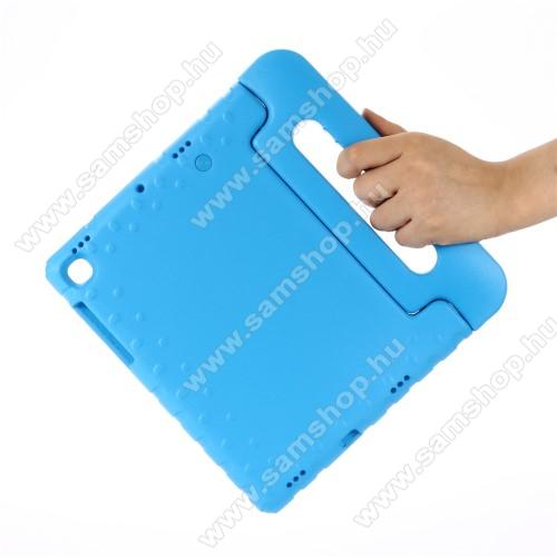 Shockproof EVA habszivacs védő tok / hátlap - VILÁGOSKÉK - hordozható, asztali tartó funkciós, ERŐS VÉDELEM! - SAMSUNG SM-T725 Galaxy Tab S5e 10.5 LTE / SAMSUNG SM-T720 Galaxy Tab S5e 10.5 Wi-Fi