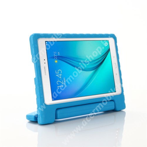 Shockproof EVA habszivacs védő tok / hátlap - VILÁGOSKÉK - hordozható, asztali tartó funkciós, ERŐS VÉDELEM! - SAMSUNG Galaxy Tab A 10.1 Wi-Fi (2019) (SM-T510) / SAMSUNG Galaxy Tab A 10.1 LTE (2019) (SM-T515)