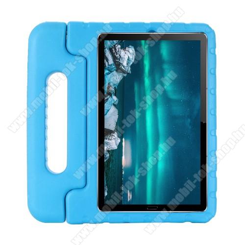 Shockproof EVA habszivacs védő tok / hátlap - VILÁGOSKÉK - hordozható, asztali tartó funkciós, ERŐS VÉDELEM! - Huawei MediaPad M6 8.4
