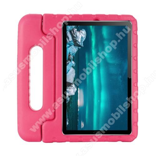 Shockproof műanyag védő tok / hátlap - MAGENTA - hordozható, asztali tartó funkciós, ERŐS VÉDELEM! - Huawei MediaPad M6 8.4