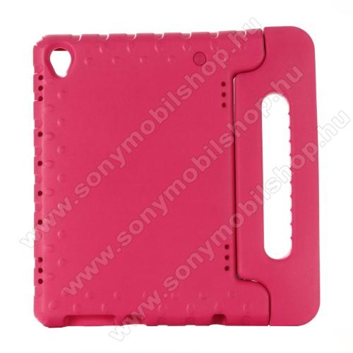 Shockproof műanyag védő tok / hátlap - RÓZSASZÍN - hordozható, asztali tartó funkciós, ERŐS VÉDELEM! - HUAWEI MediaPad M6 10.8