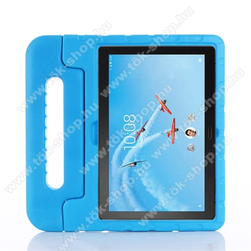 Shockproof műanyag védő tok / hátlap - VILÁGOSKÉK - hordozható, asztali tartó funkciós, ERŐS VÉDELEM! - Lenovo Tab P10 (TB-X705F)