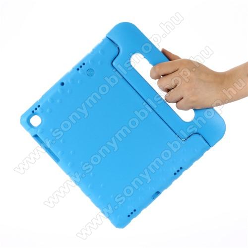 Shockproof műanyag védő tok / hátlap - VILÁGOSKÉK - hordozható, asztali tartó funkciós, ERŐS VÉDELEM! - SAMSUNG SM-T725 Galaxy Tab S5e 10.5 LTE / SAMSUNG SM-T720 Galaxy Tab S5e 10.5 Wi-Fi