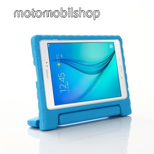 Shockproof műanyag védő tok / hátlap - VILÁGOSKÉK - hordozható, asztali tartó funkciós, ERŐS VÉDELEM! - SAMSUNG Galaxy Tab A 10.1 Wi-Fi (2019) (SM-T510) / SAMSUNG Galaxy Tab A 10.1 LTE (2019) (SM-T515)