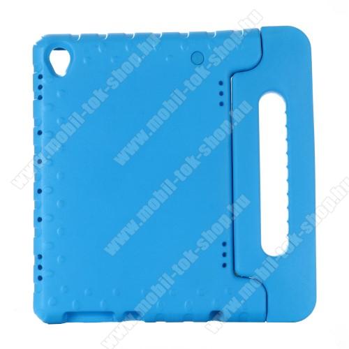 Shockproof műanyag védő tok / hátlap - VILÁGOSKÉK - hordozható, asztali tartó funkciós, ERŐS VÉDELEM! - HUAWEI MediaPad M6 10.8